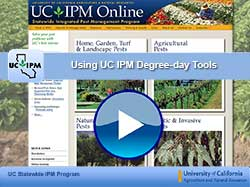 second degree-days video: using UC IPM degree-day tools