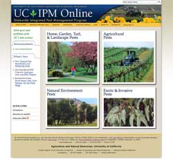 UC IPM new home page.