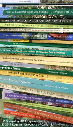 A few of UC IPM's print publications.