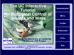 Cover of UC Interactive Tutorial for Biological Control of Insects and Mites