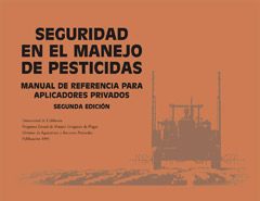 Photo of the book, Spanish Version, Pesticide Safety: A Reference Manual for Private Applicator.