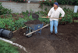 Applying a composted mulch