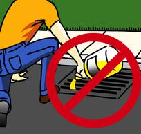 Don't pour pesticides down storm drains!
