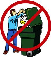 Don�t throw unused chemicals in the trash.